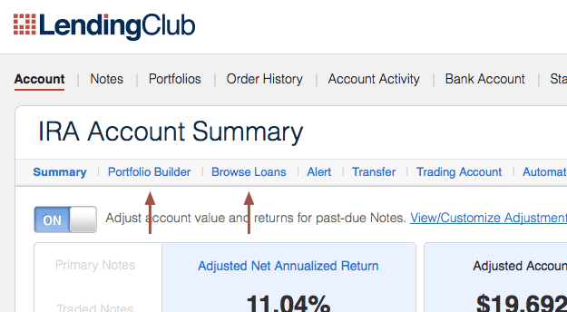 Investing Options at Lending Club