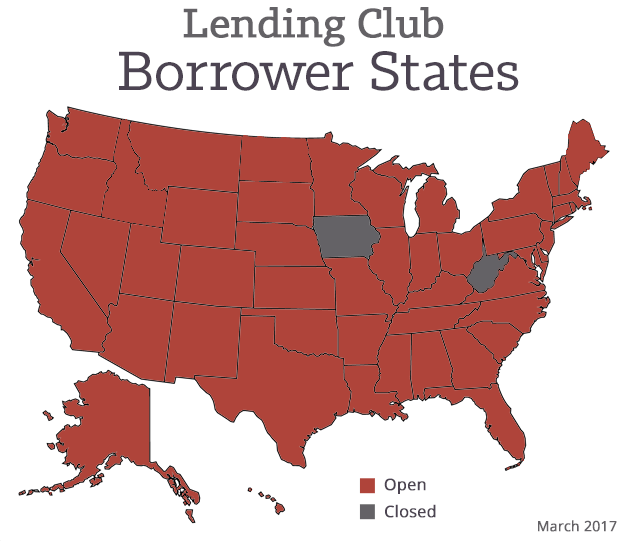 LendingClub Borrower Map