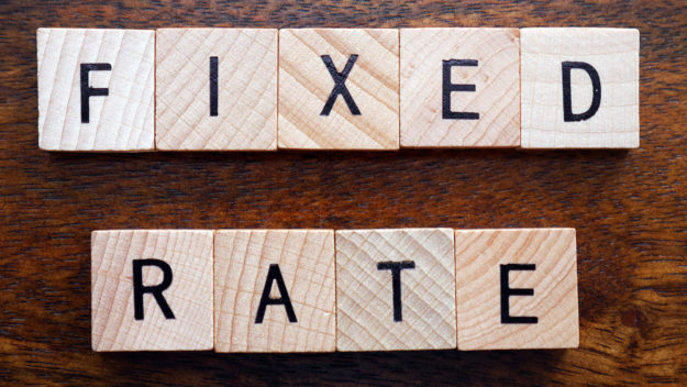 Fixed rate stock photo